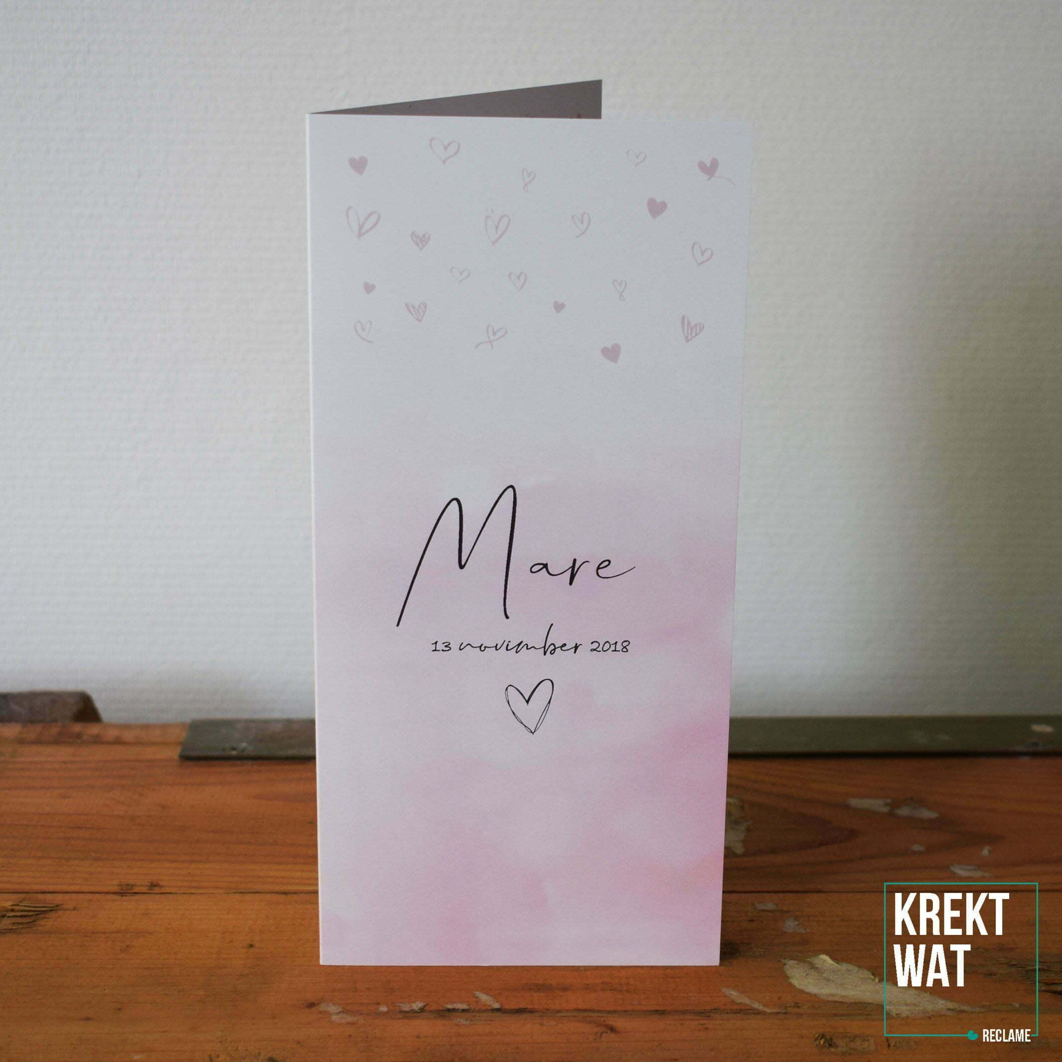 Geboortekaartje - Mare