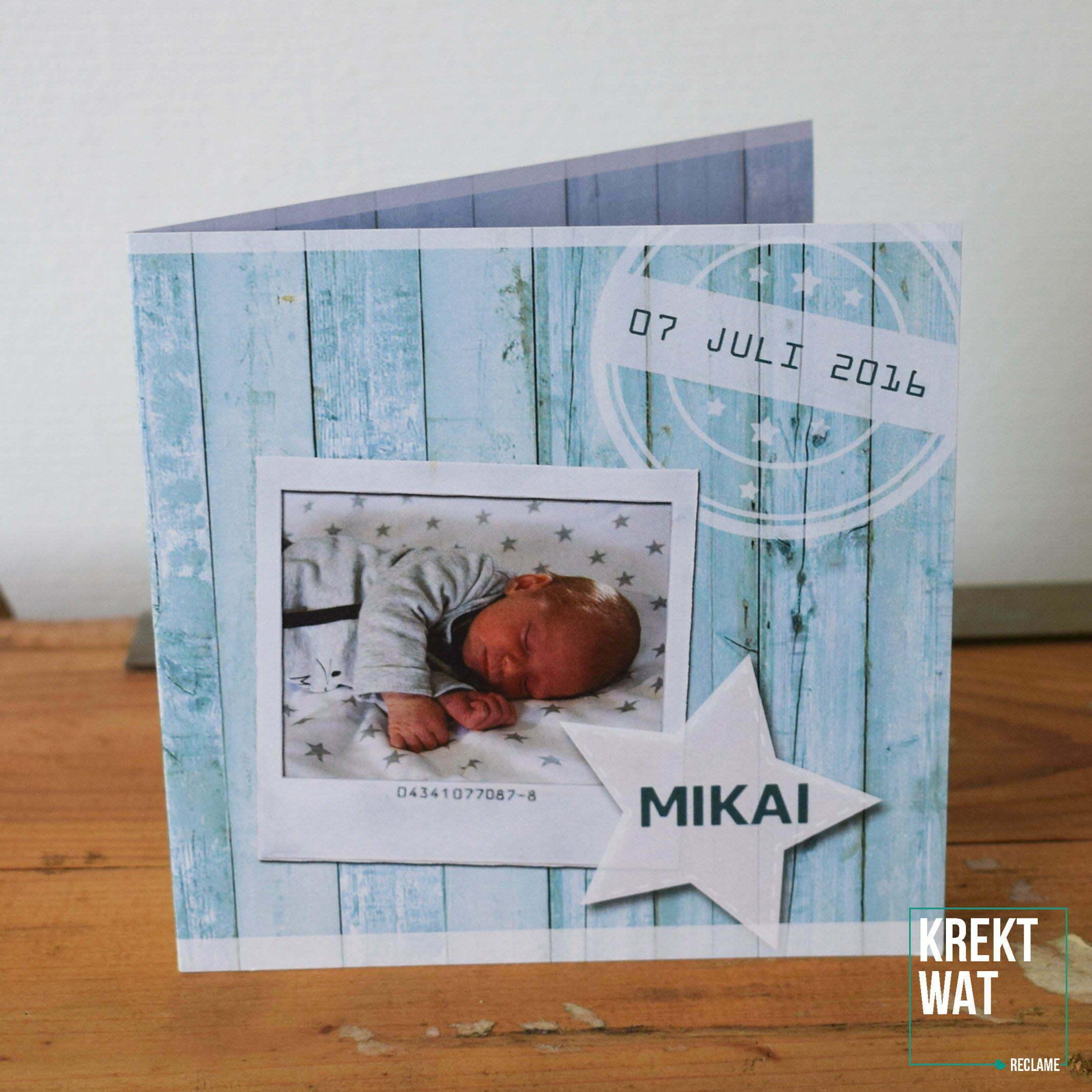 Geboortekaartje - Mikai