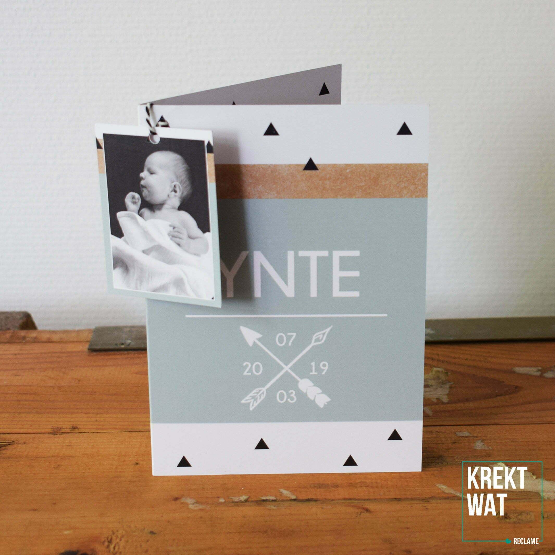 Geboortekaartje - Ynte