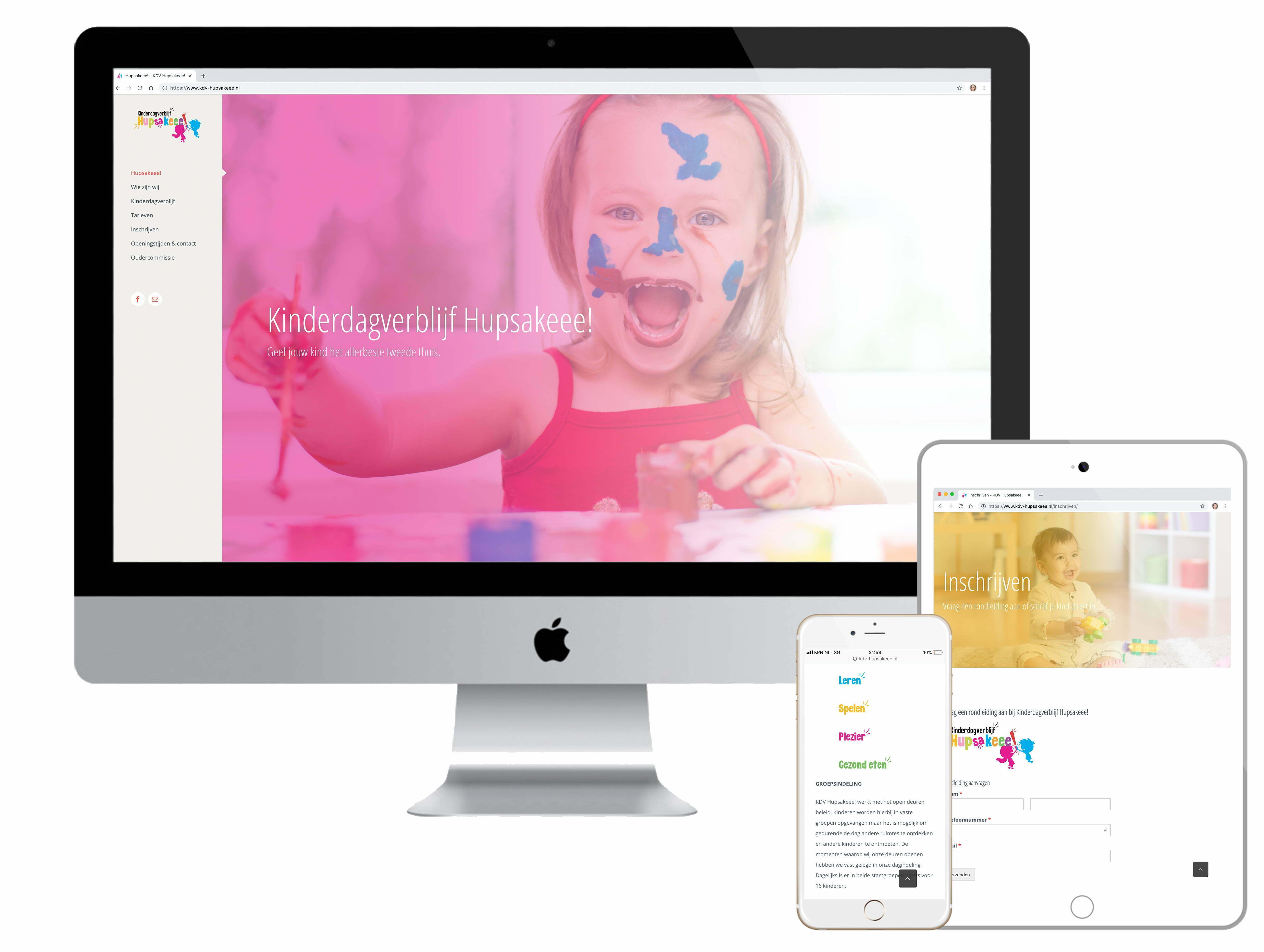 Online website - KDV Hupsakeee