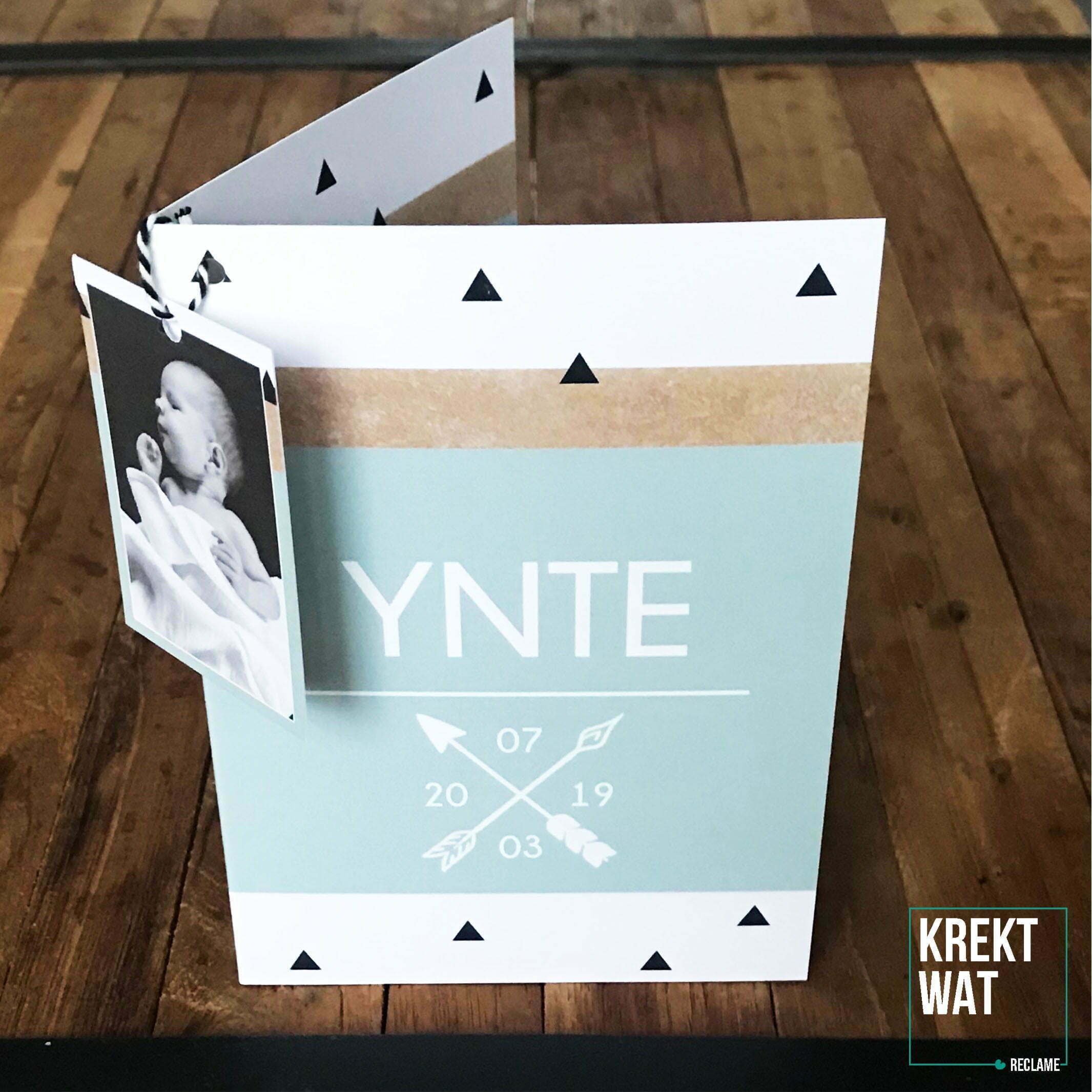 Geboortekaartje Ynte